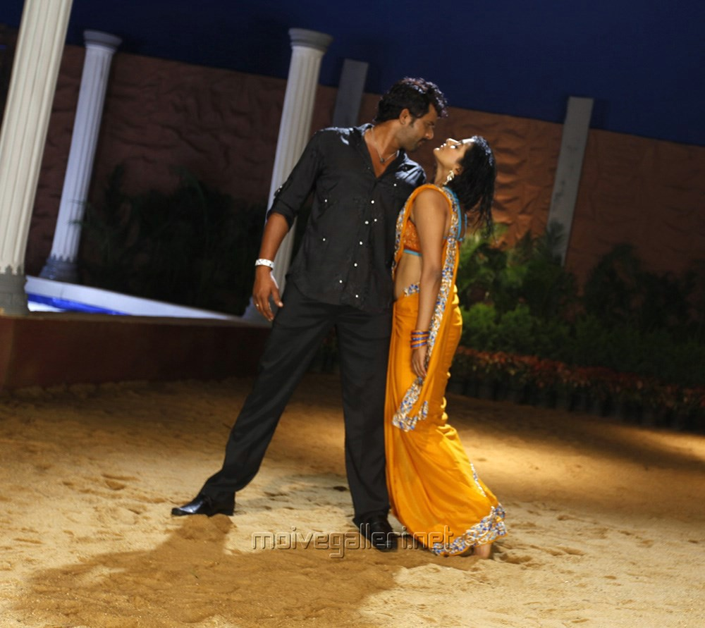 Priyamani Hot Wet Saree Look In Tikka Movie Stills