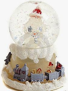 Navidad, Bolas de Cristal con Musica