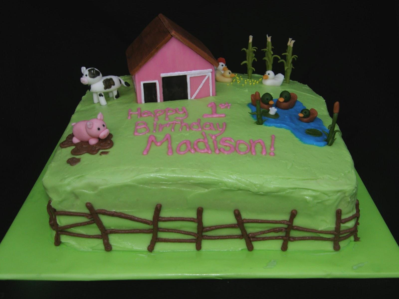 Mrs Lydias Kitchen First Birthday Cake Farm