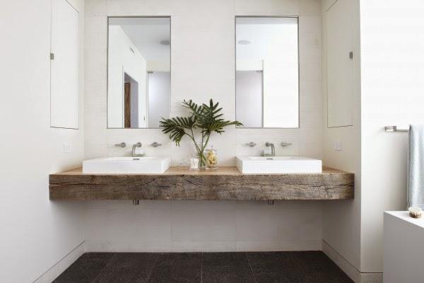 modern rustic simple vanity