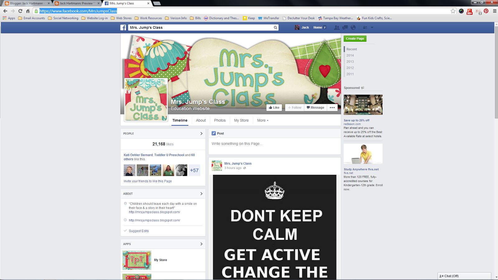 Mrs. Jumps Class Facebook Page