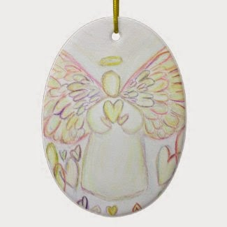 Angel of Hearts Ornament