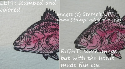 Fish image from Stampin'UP!'s stamp set: By the Tide and Crystal Effects eyeballs