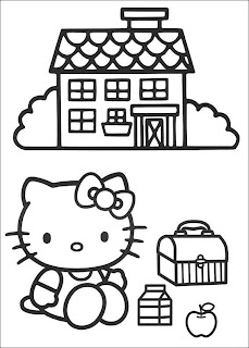 hello kitty coloring pages, free coloring pages