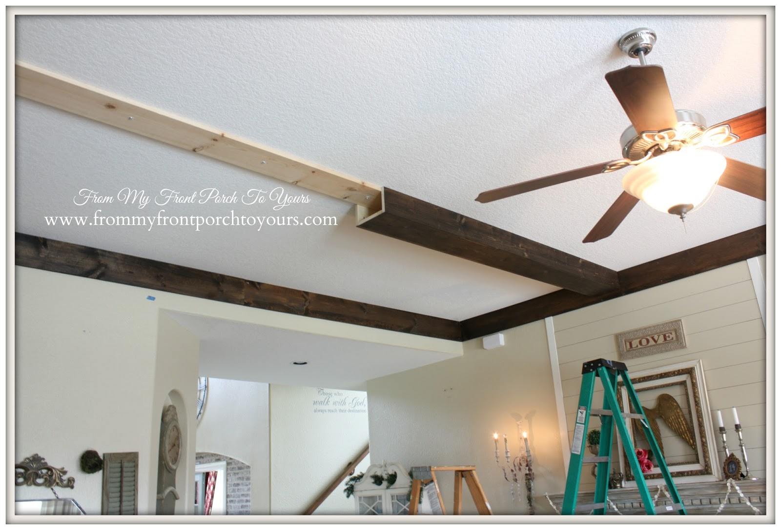 DIY Wood Beams- From My Front Porch To Yours