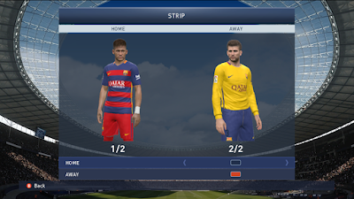 PES 2015 FC Barcelona 15-16 Player Kits by Momotaros