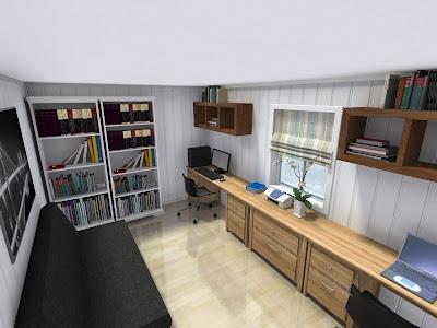 Litt av ditt & litt av datt: kombinert kontor & gjesterom