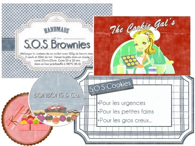 """Beliebt Etiquettes à gogo: Étiquettes """"S.O.S Cookies"""" RN52"""