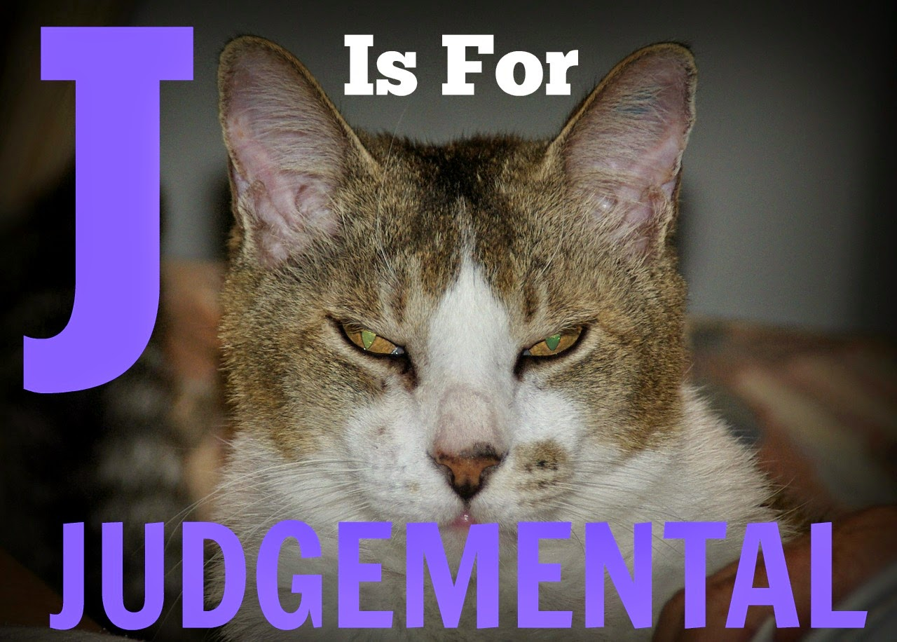 AtoZChallenge Judgemental Judgmental