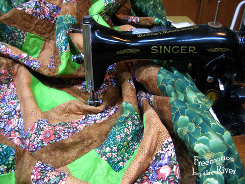 Quilting on a 15-91 Singer sewing machine