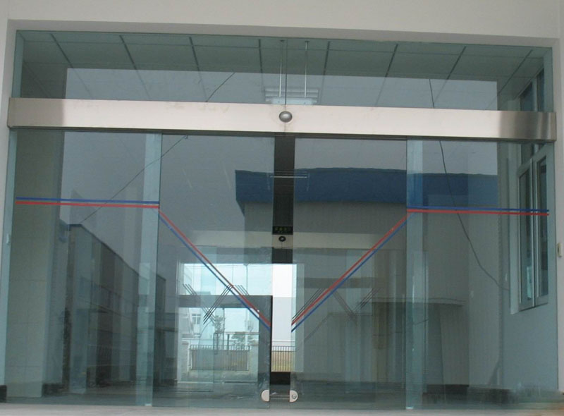 Satmatindo glass automatic door sliding folding