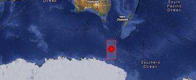 Terremoto de 6,4 grados fué registrado en la región de Islas Balleny el 09 de octubre 2012 a las 12:32 UTC