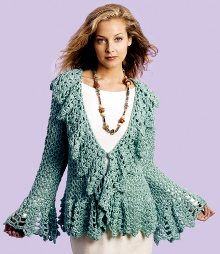 Knitting Pattern Circle Jacket : Miss Julias Vintage Knit & Crochet Patterns