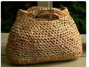 Purse made from Plarn