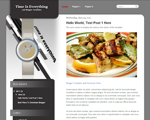 Time Is Everything Blogger Theme