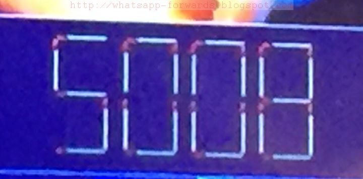 Find out the highest possible number 5008