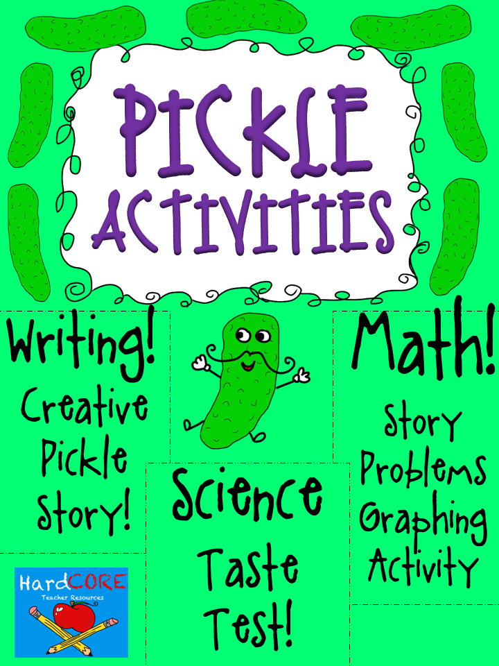 http://www.teacherspayteachers.com/Product/Pickle-Activities-Reading-Writing-Math-Science-Craftivity-728138