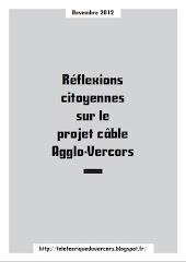 Réflexions citoyennes sur le projet de câble Agglo-Vercors