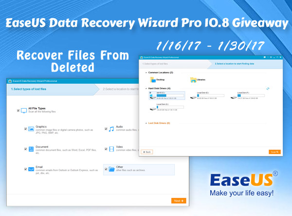 EaseUS Data Recovery WIzard Pro 10.8