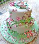 torta battesimo Bimba- Il bosco incantato di Arianna