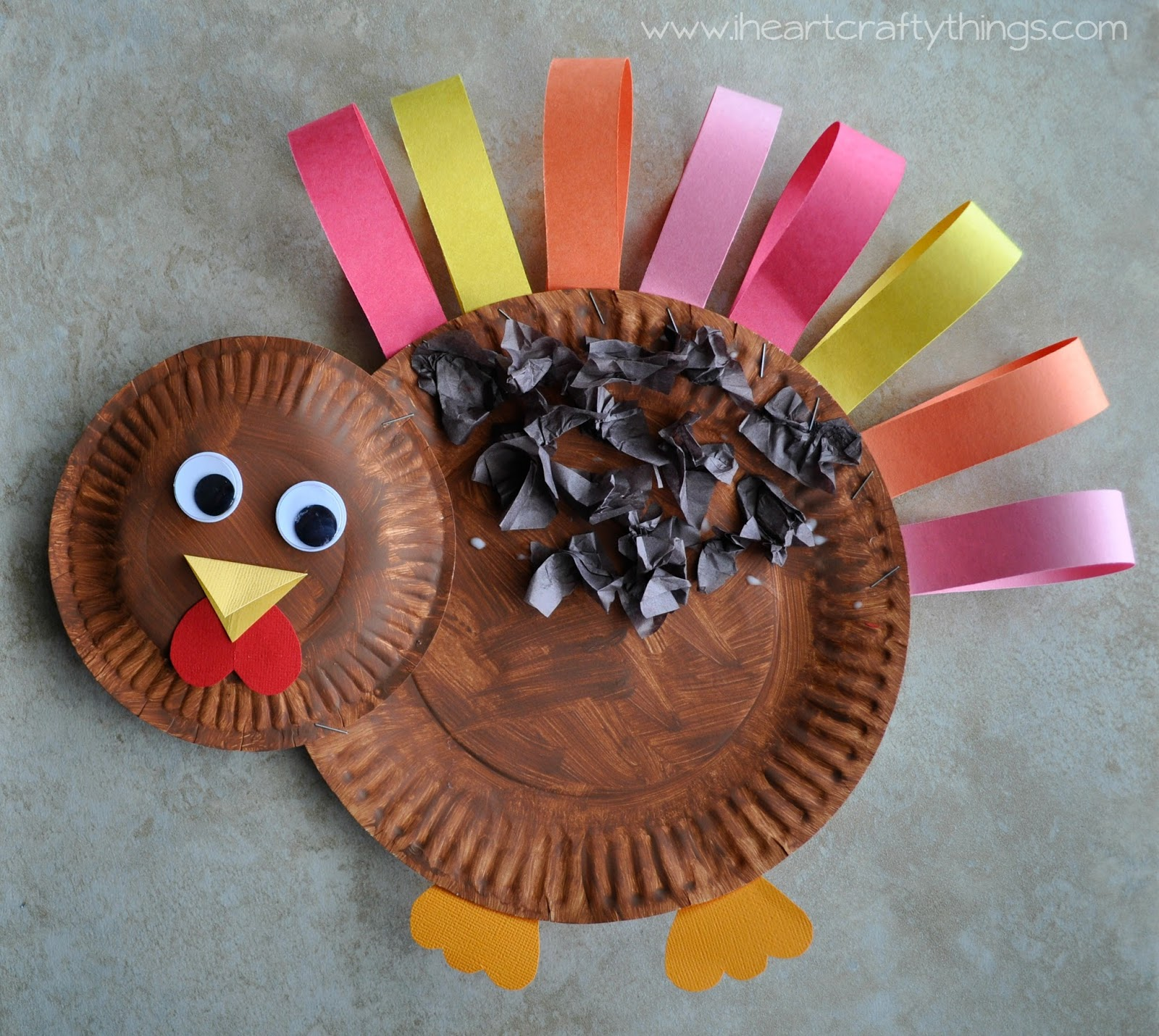 Paper Plate Turkey Craft I Heart Crafty Things