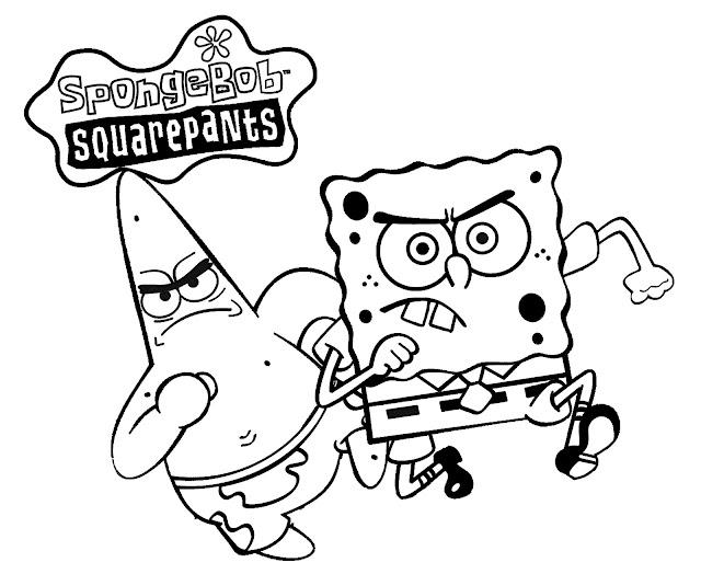 Mewarnai Tokoh Kartun Spongebob SquarePants