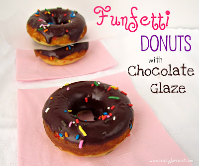 Recipe: Funfetti donuts with chocolate glaze