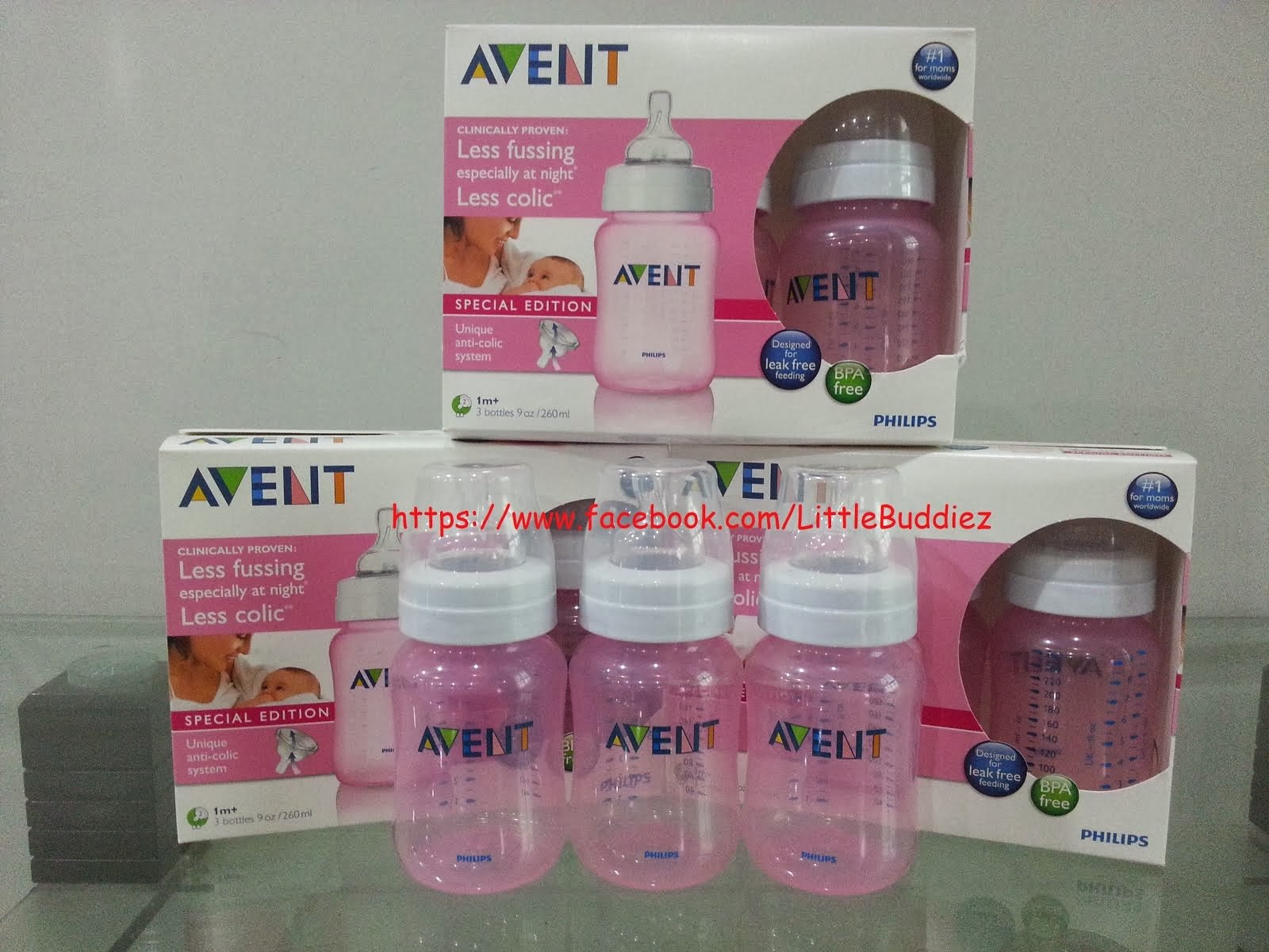 Original Philips Avent Special Edition 9oz Triple (Pink)