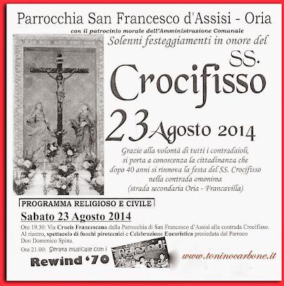 festeggiamenti del ss. crocifisso Oria