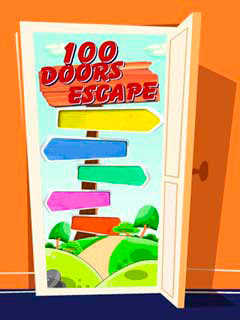 Screenshots of the 100 doors: Escape for java mobile, phone.
