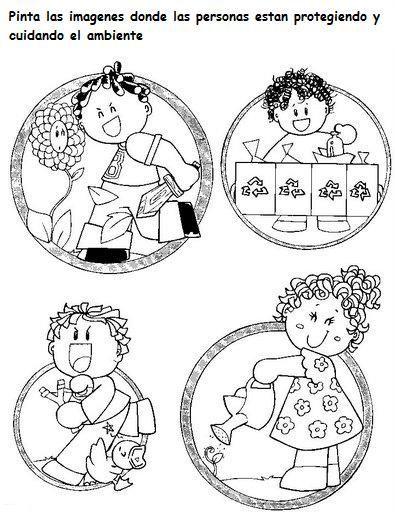 Baños Kinder Medidas:Actividades Escolares: actividades y laminas sobre el medio ambiente