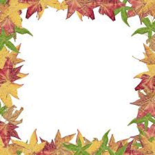 Free Fall Leaf Border