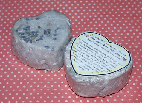 This Easy Homemade Lavender Sea Salt Soap Recipe is perfect for DIY Valentine's Day gifts and requires no lye since it's made by rebatching or handmilling existing soap bars.