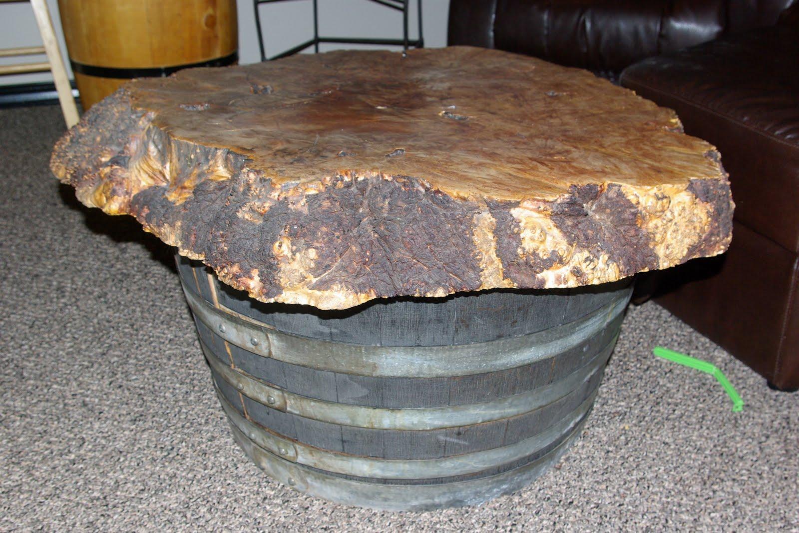 Reclaimed Rustics Wine Barrel Coffee Table