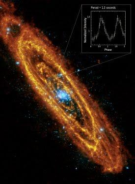 Encontrada primera estrella de neutrones giratoria