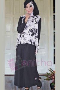 Zenitha Gamis Zn96 - Hitam (Toko Jilbab dan Busana Muslimah Terbaru)