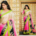 Classy Festive Style Designer Indian Sarees 2014 New Fashion Trend Blouse Sari for Womens-Girls