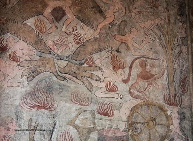 Fresken zeigen Höllenqualen
