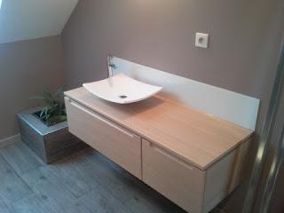 plan toilette vasque posé zen