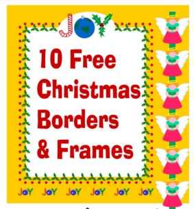 10 Free Christmas Clip Art Borders and Frames