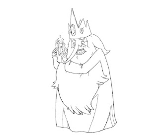 #4 Ice King Coloring Page