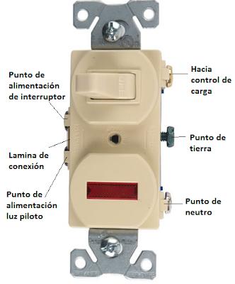 Interruptor con luz piloto