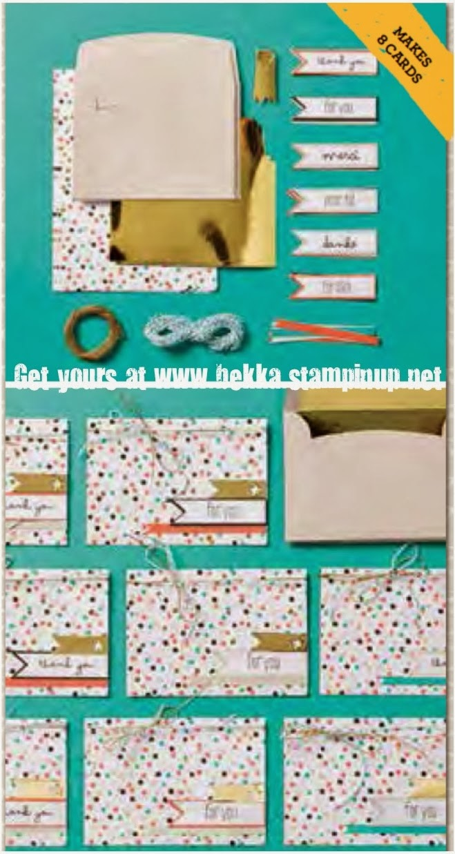 Good as Gold Sale-a-Bration Card Kit - get yours at www.bekka.stampinup.net