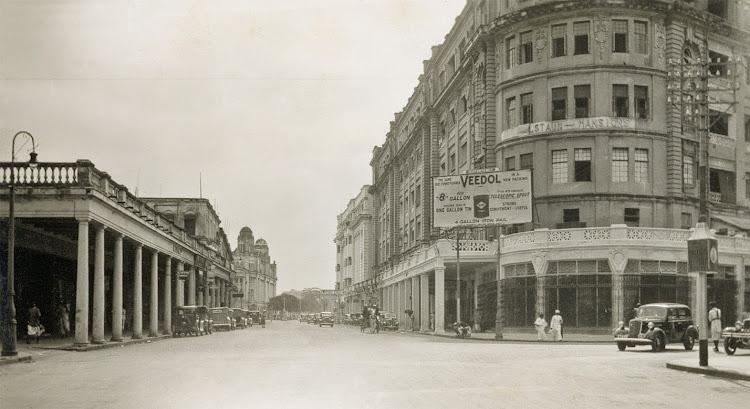 Park Street in Calcutta (Kolkata) - c1930's