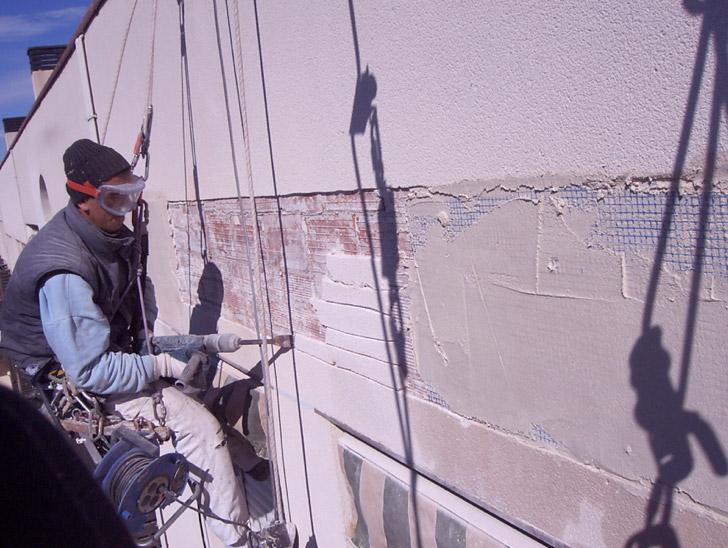 Reparación de dilataciones en fachada de Zaragoza