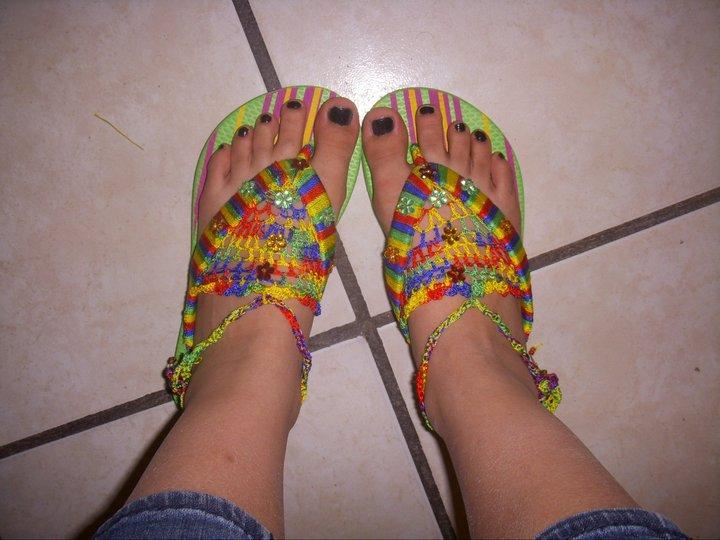 Sandalias De Crochet Para Bebe