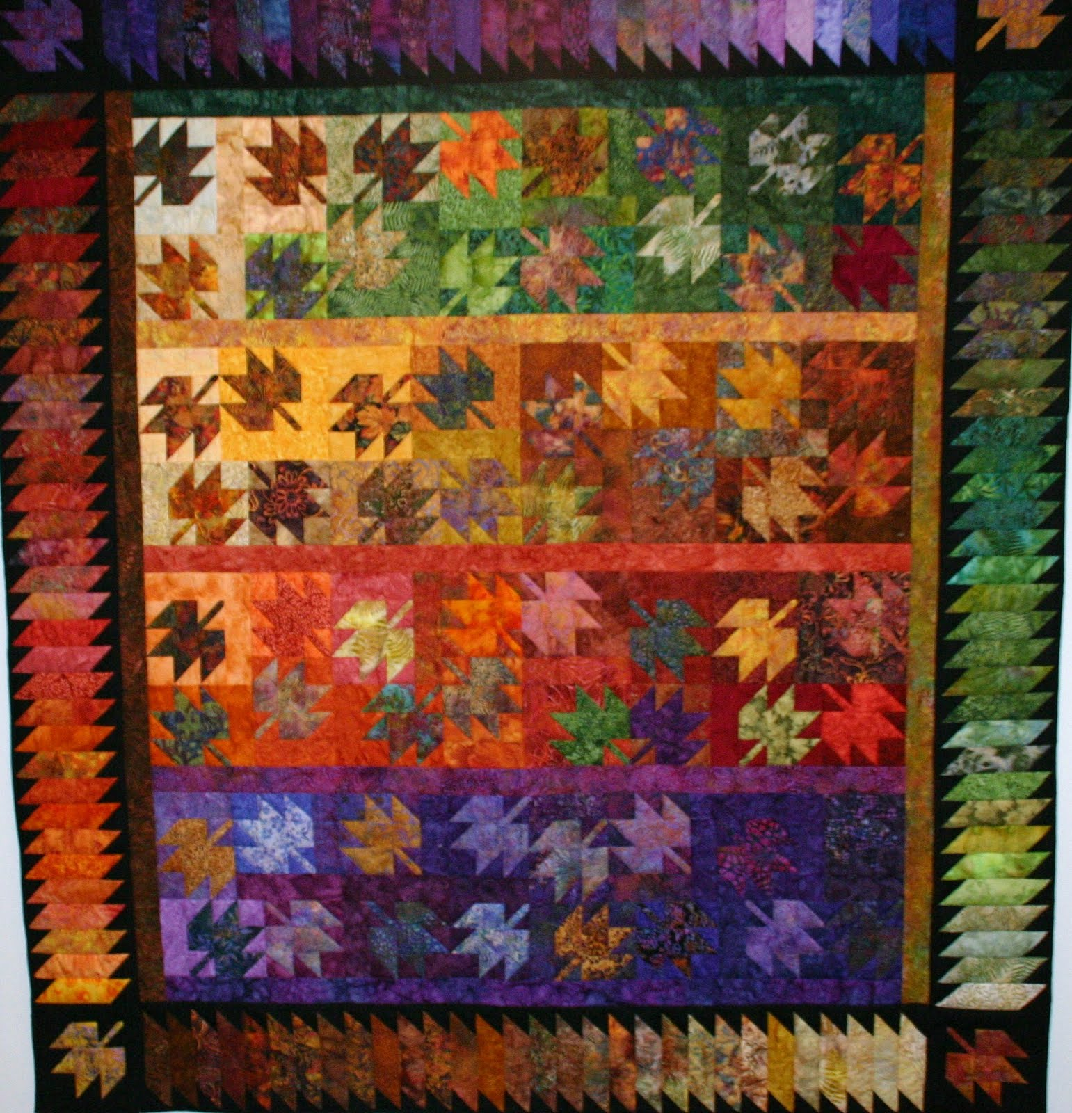 Quilt Template Leaves : Sew n Wild Oaks Quilting Blog: Scrappy Leaves Class is in Session