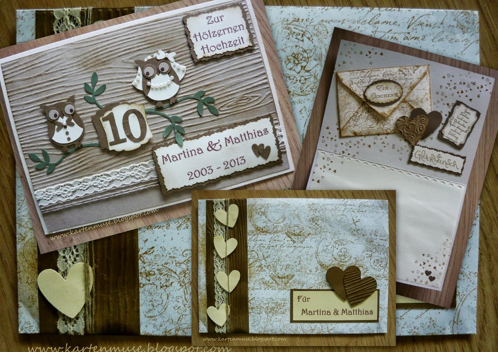 Kartenzauber Und Schachtelträume: Hölzerne Hochzeit, Einladung