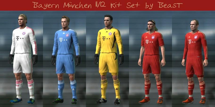 Bayern München 11/12 Kit Set by BeasT
