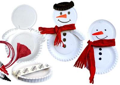 atividade de natal com pratos de papel